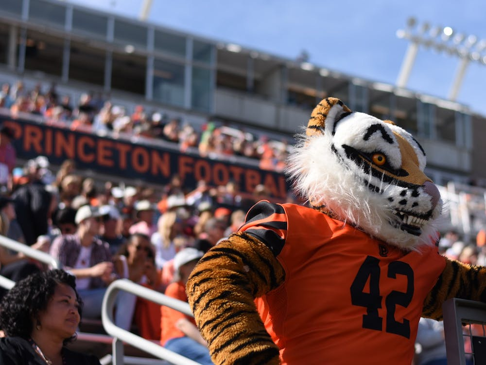 Princeton's mascot watches the game in front of the home fans. Angel Kuo / The Daily Princetonian