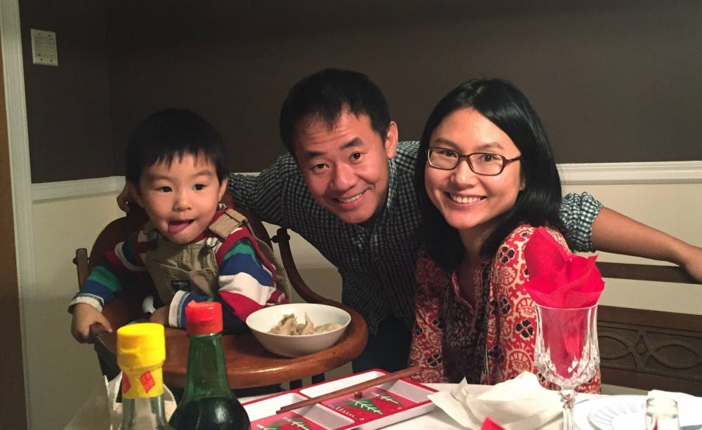 "<p>Fourth-year history graduate student Xiyue Wang with his wife Hua Qu and their now six-year-old son.</p> <h6>Photo Credit: <a href=""https://www.princeton.edu/news/2019/12/07/statement-president-eisgruber-release-xiyue-wang"" target=""_self"">the Office of Communications</a></h6>"