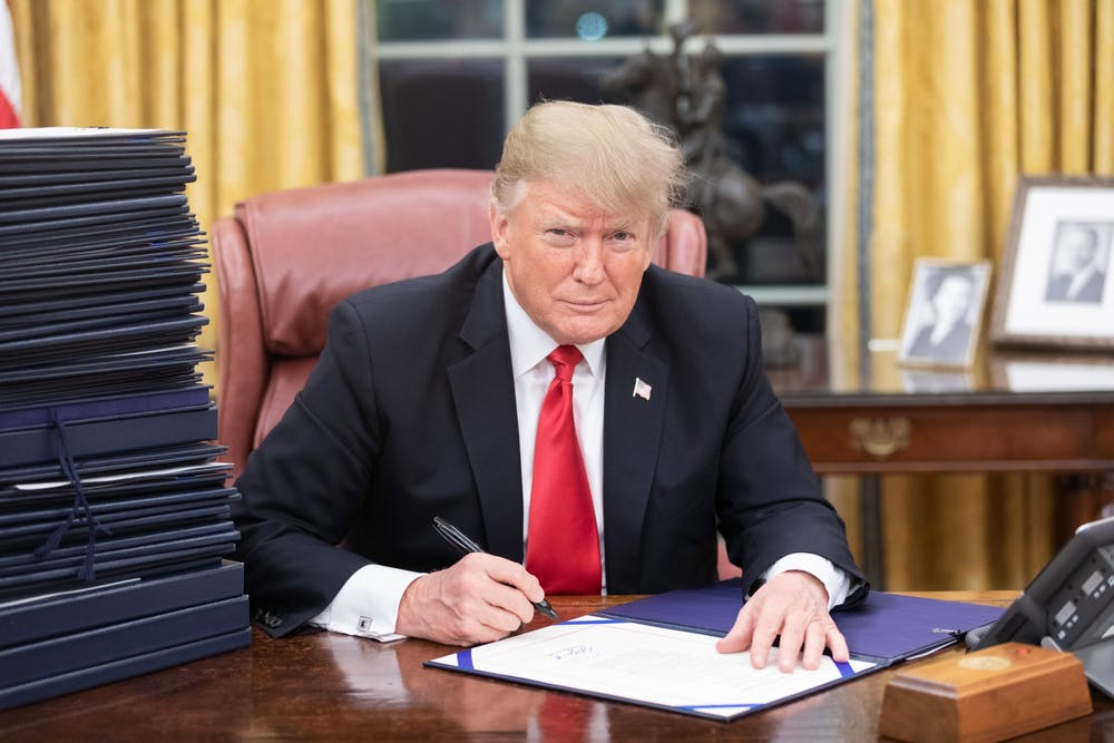 "<p>President Donald Trump in the Oval Office</p> <h6>Photo Credit: White House Photographer Shealah Craighead / <a href=""https://www.flickr.com/photos/whitehouse/46451130962"" target=""_self"">Flickr</a></h6>"