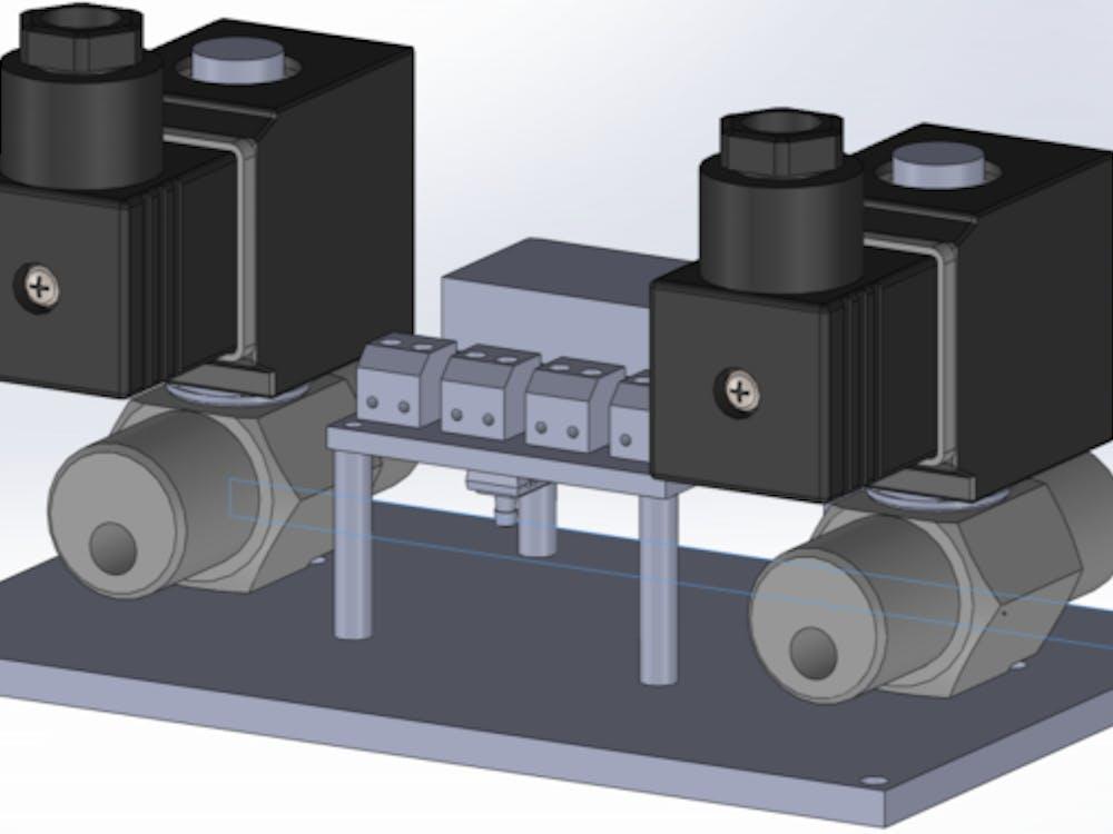 A 3-D image of the Mechanical Ventilator Milano (MVM). Courtesy of Cristiano Galbiati