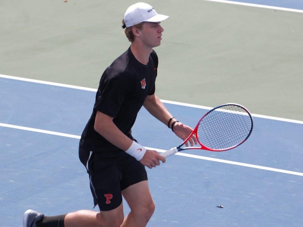 Sophomore Ryan Seggerman approaches the net. Photo Credit: Jack Graham / The Daily Princetonian