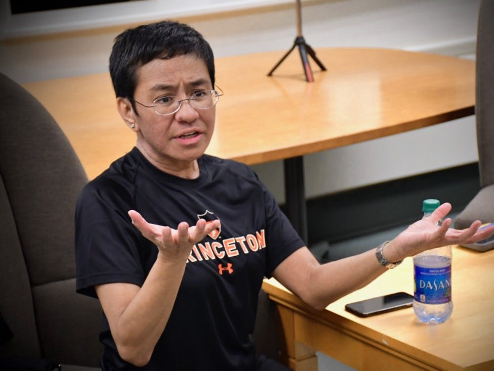 Maria Ressa '86 visited The Daily Princetonian's newsroom in 2019. Jon Ort / The Daily Princetonian