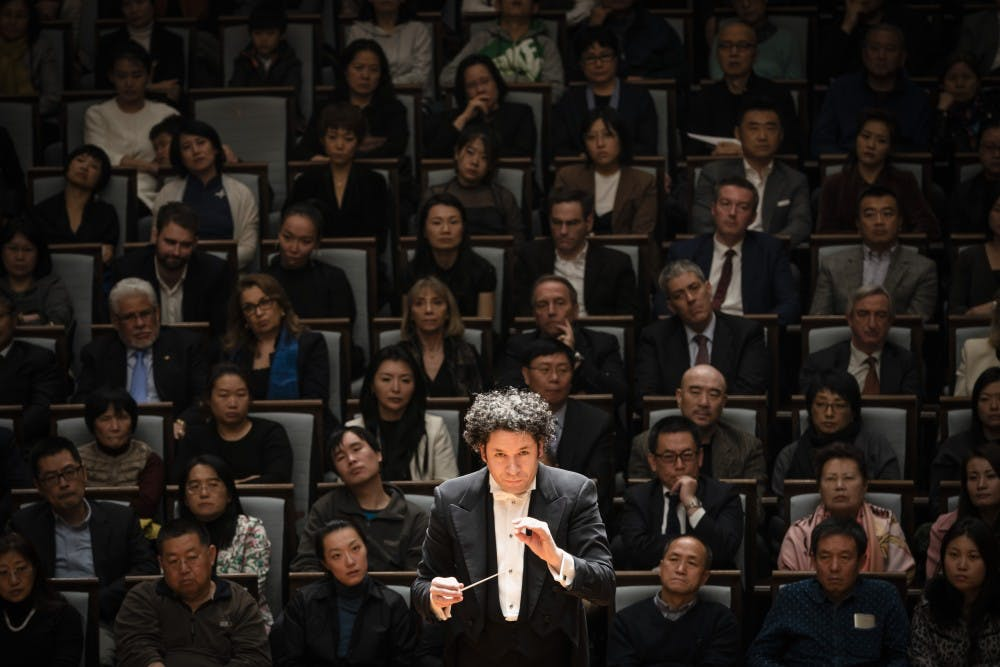 <p>Gustavo Dudamel conducts the Berlin Philharmonic.&nbsp;</p> <p><br></p> <p>Photo Credit: Stephan Rabold / Fidelio Arts, Ltd.&nbsp;</p>