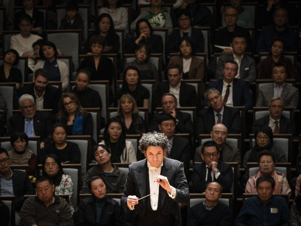 Gustavo Dudamel conducts the Berlin Philharmonic.   Photo Credit: Stephan Rabold / Fidelio Arts, Ltd.