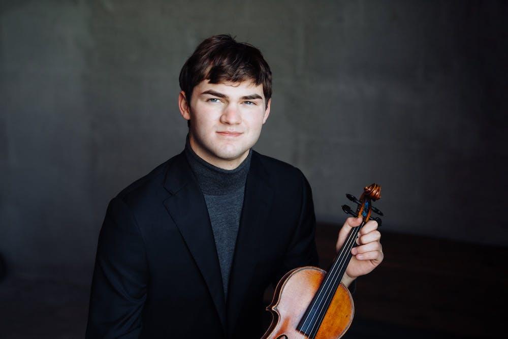 <p>Nathan Meltzer and his violin.</p> <h6>Jiyang Chen for The Daily Princetonian</h6>