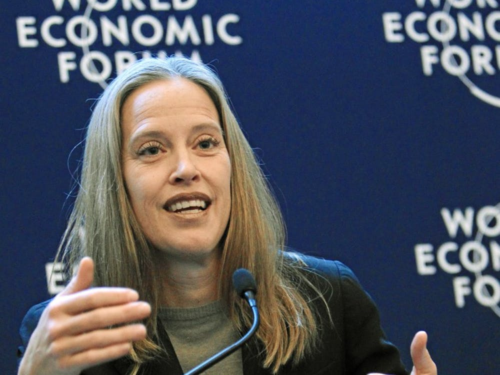 DAVOS/SWITZERLAND, 26JAN12 - Wendy Kopp, Chief Executive Officer and Co-Founder, Teach For All, USA; Social Entrepreneur; Global Agenda Council on Education Systems speaks during the session 'Forging Ahead: The United States in 2012' at the Annual Meeting 2012 of the World Economic Forum at the congress centre in Davos, Switzerland, January 26, 2012.  Copyright by World Economic Forum swiss-image.ch/Photo by Sebastian Derungs