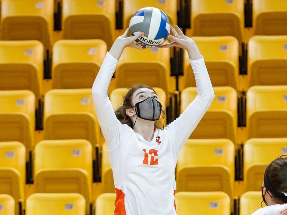 Lindsey Kelly was named to the All-Tournament Team at the Ellis Rowland Memorial Tournament, as was her teammate Elena Montgomery. Courtesy of GoPrincetonTigers.com