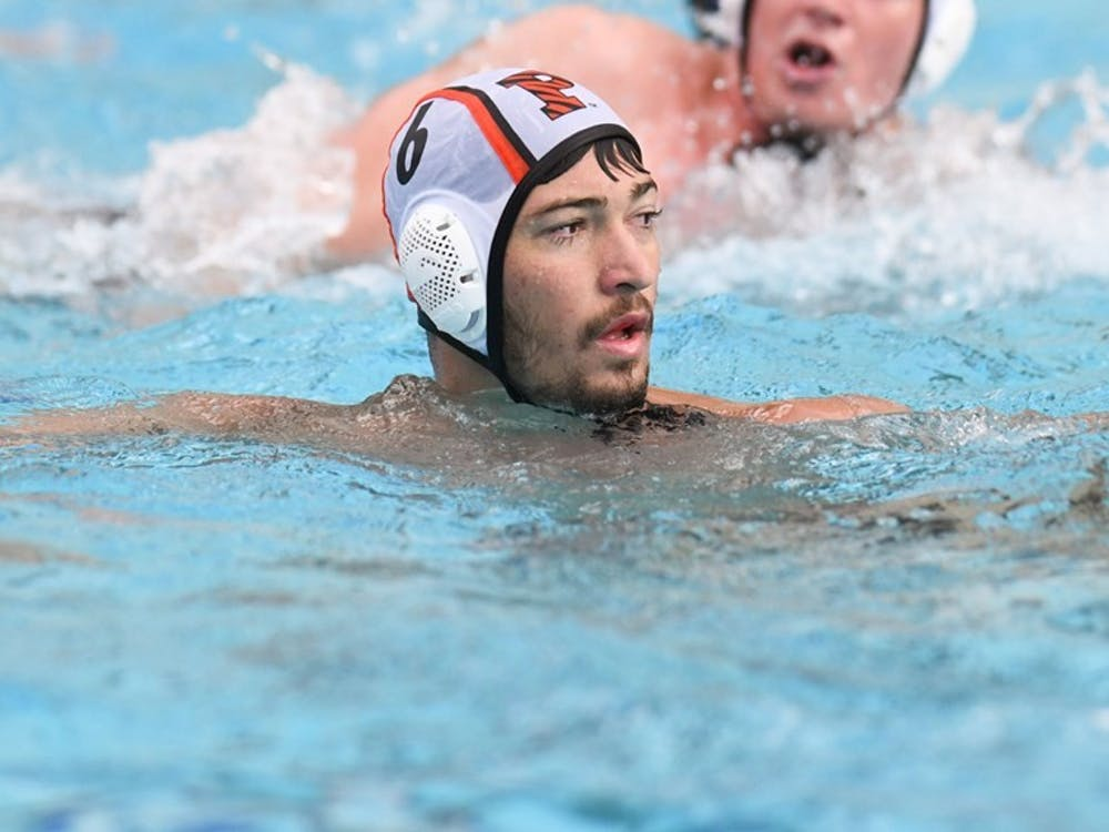 George Caras '24 was named the Northeast Water Polo Conference (NWPC) Rookie of the Week after amassing 10 goals and 16 drawn ejections this past week in California. Nicole Maloney / GoPrincetonTigers.com