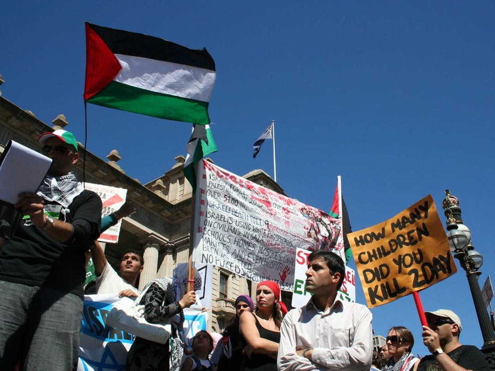 """Palestine Flag at Parliament House"" by John Englart / CC BY-SA 2.0"