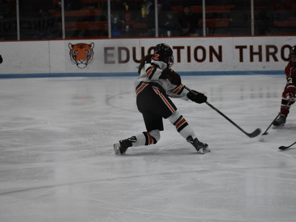 Maggie Connors scores to give Princeton a 3—0 against St. Lawrence. Photo Credit: Owen Tedford / Daily Princetonian