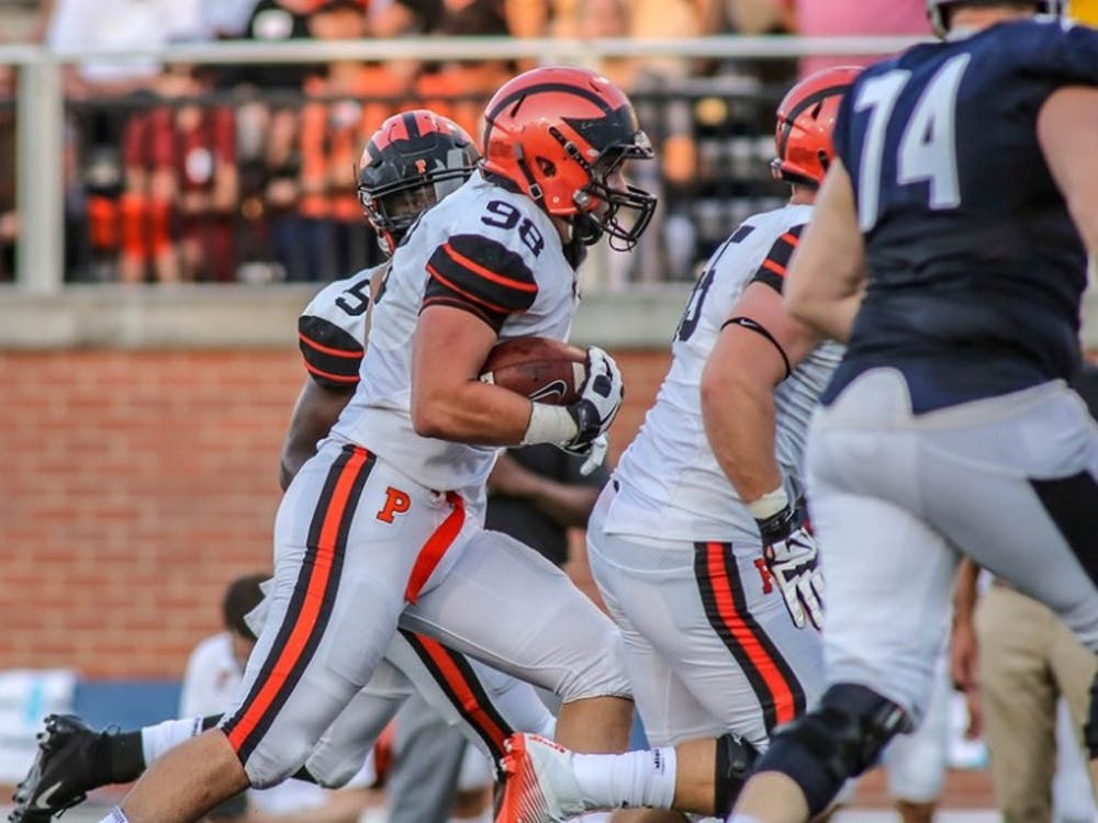 Caption: Senior Joey Demarco against Butler in 2018  Credit: GoPrincetonTigers