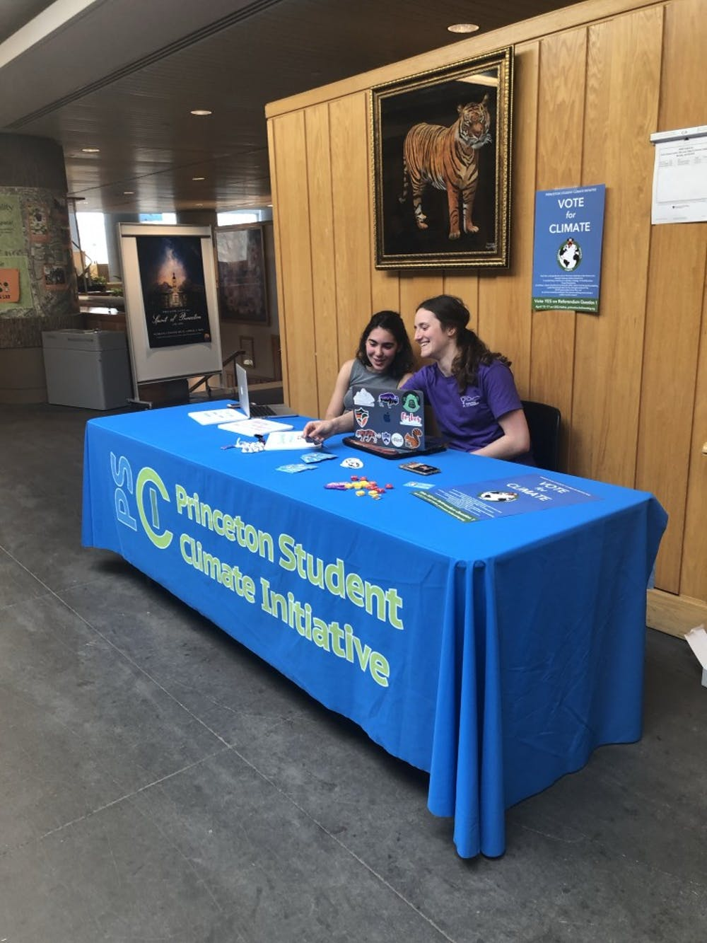Claire Wayner '22 (seated on right) and Maria Fleury '22 (seated on left)