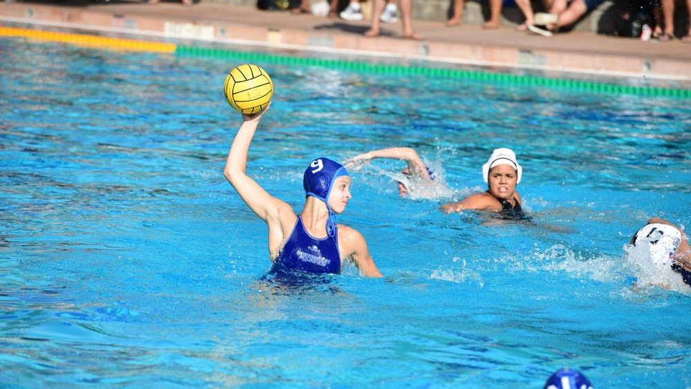 Kaila Carroll during a water polo game.  Courtesy of Kaila Carroll
