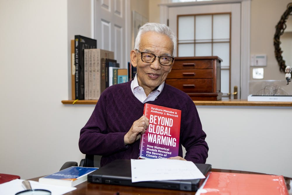 <h5>Princeton University researcher and 2021 Nobel laureate in physics Syukuro Manabe at his home in Princeton the morning of the Nobel Prize announcement.</h5> <h6>Denise Applewhite / Office of Communications</h6>