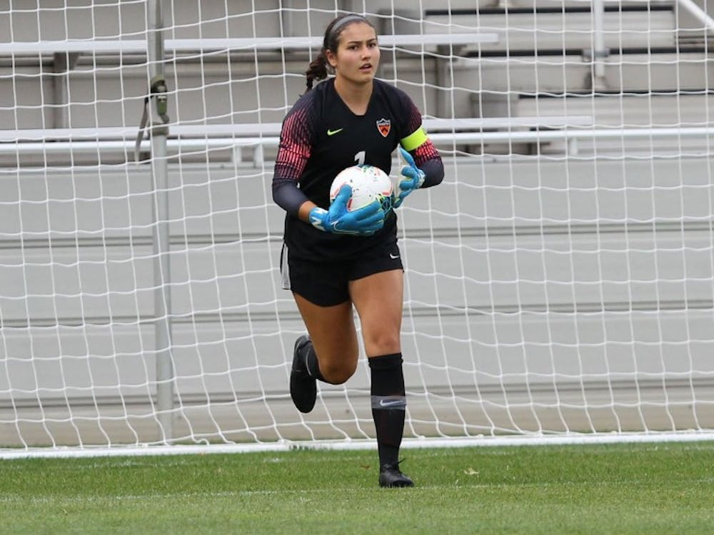 Natalie Grossi, pictured above, tied the Ivy League record for career shutouts. Photo by Beverly Schaefer / GoPrincetonTigers