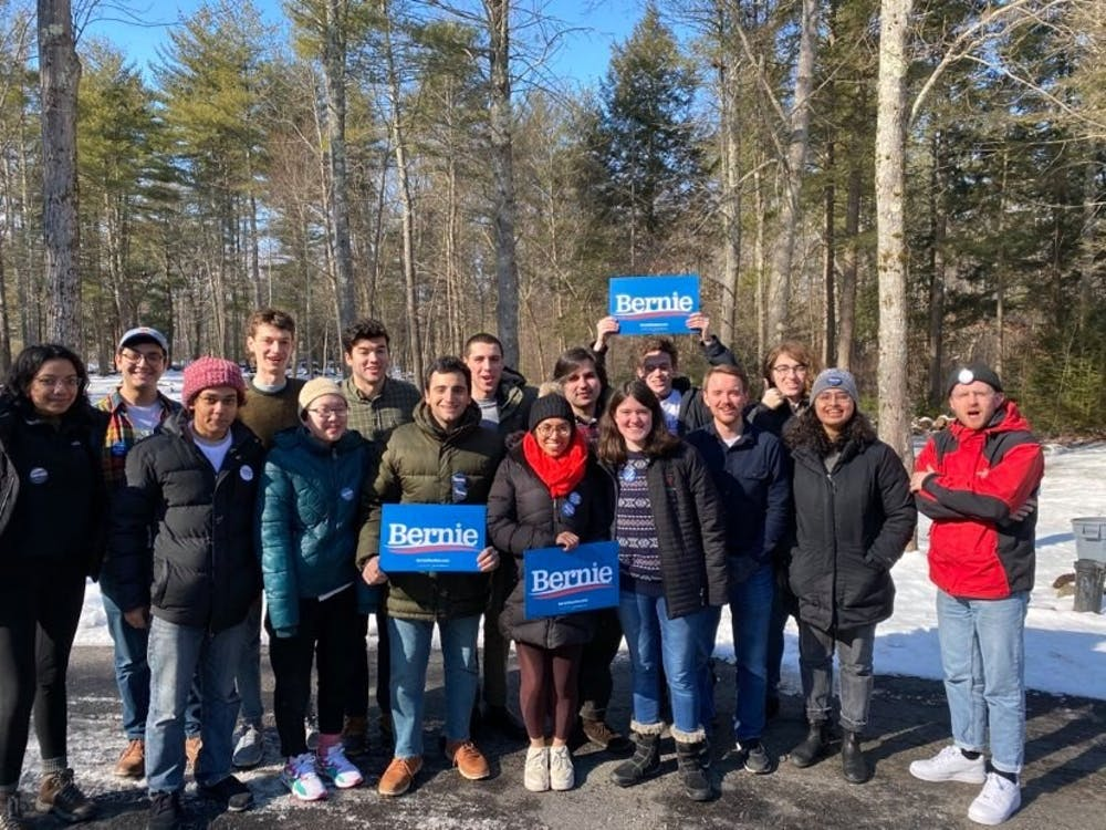 Princeton students traveled to New Hampshire to campaign for Bernie Sanders. Photo Courtesy of Kaveh Badrei '20 and Justin Wittekind '22