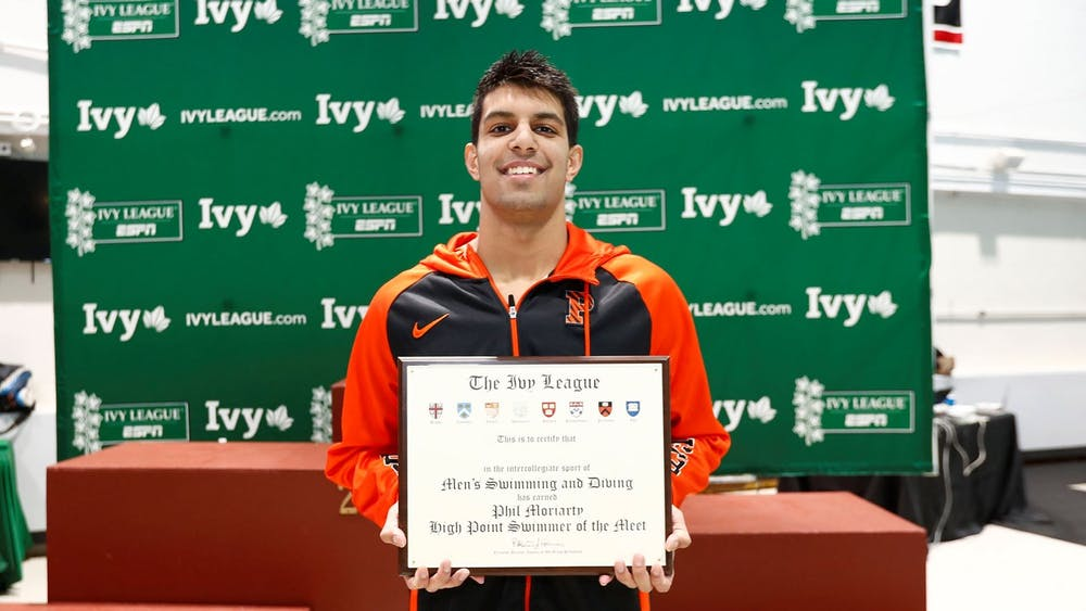 Senior Charlie Minns was named Career High Point Diver of the meet at the Ivy League Championships.  Credits: goPrincetonTigers