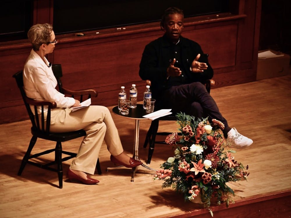Michele Minter and Walter Hood, on stage. Photo Credit: Jon Ort / The Daily Princetonian