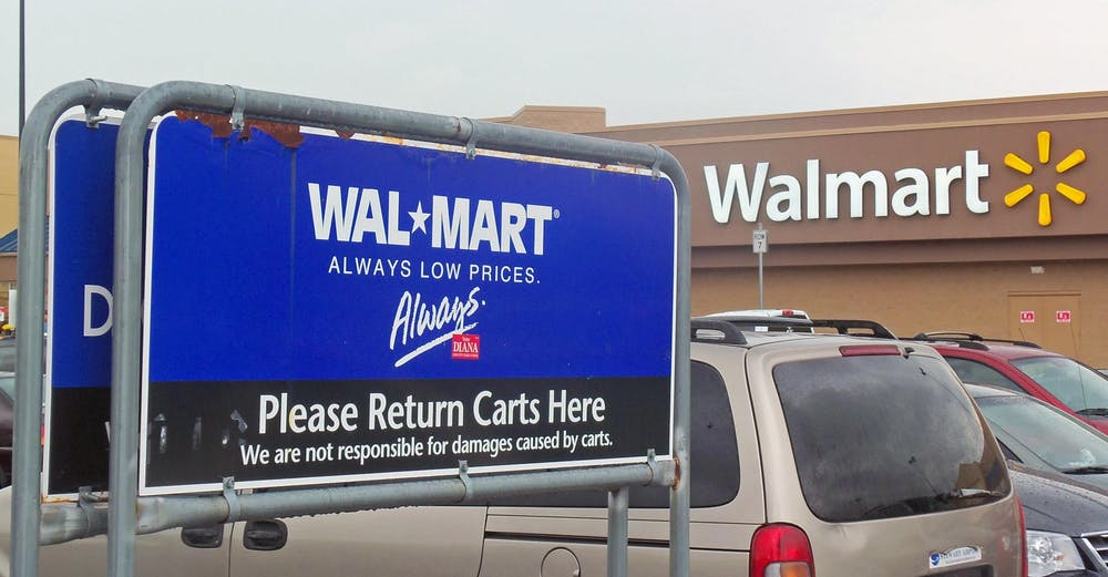 "<h6>Photo Credit: Daniel Case / <a href=""https://commons.wikimedia.org/wiki/File:Walmart_logos_old_and_new.jpg"" target=""_self"">Wikimedia Commons</a></h6>"