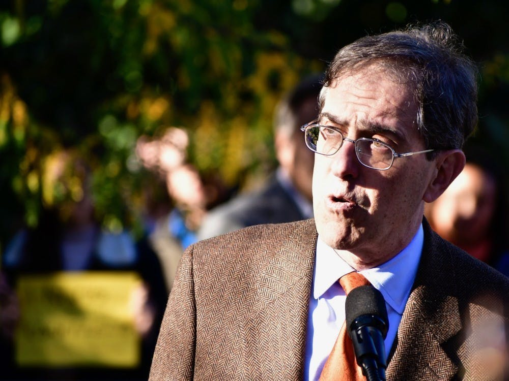 <p>University President Christopher L. Eisgruber '83.</p> <h6>Photo Credit: Jon Ort / The Daily Princetonian</h6>