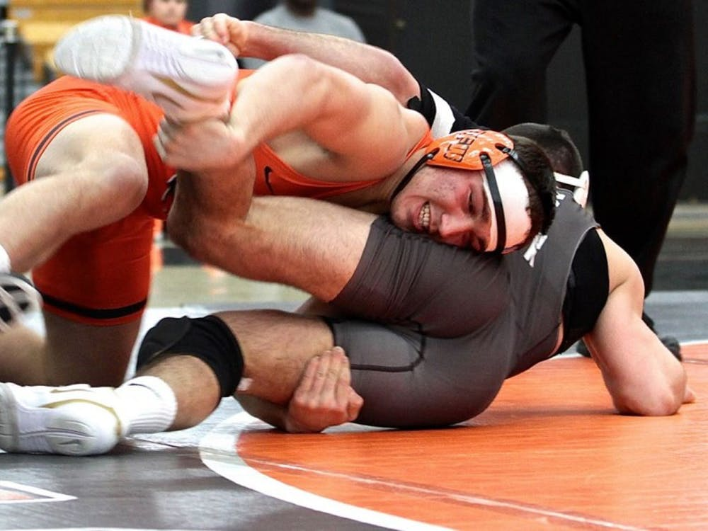 First-year Travis Stefanik en route to his NCAA bid. Photo credit: GoPrincetonTigers
