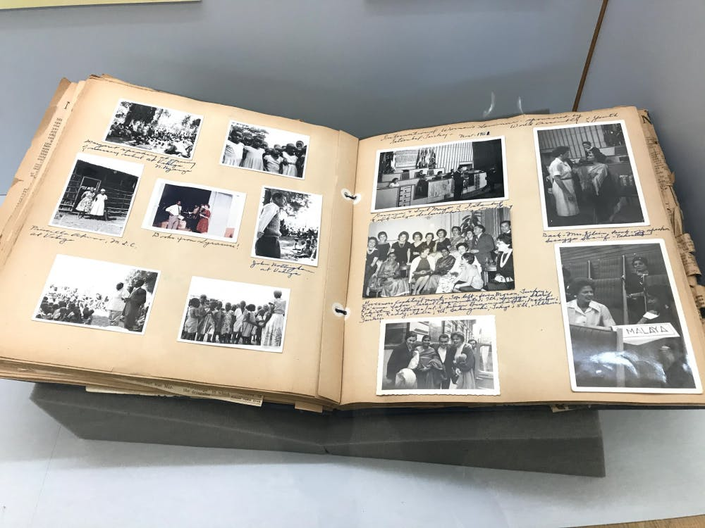 """<p>A photobook from the """"Government Service"""" section of the exhibition.</p> <h6>Photo Credit: Marissa Michaels / The Daily Princetonian</h6>"""