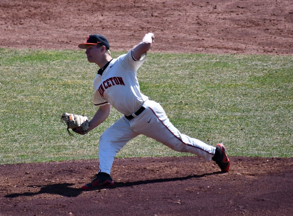 Senior Ryan Smith started Game 1 for Princeton against Penn. Photo Credit: Mark Dodici / The Daily Princetonian