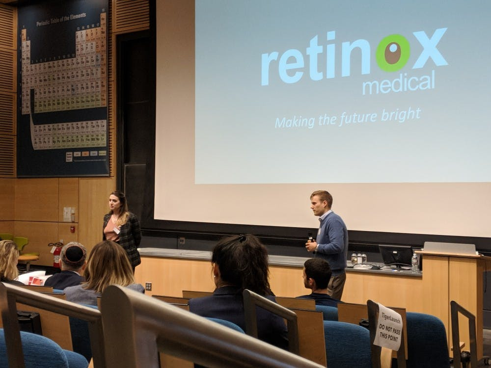 Elaine Cook, left, and Colin Cook, cofounders of Retinox Medical
