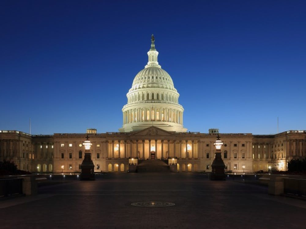 The Capitol building at dusk. Martin Falbisoner / Wikimedia Commons