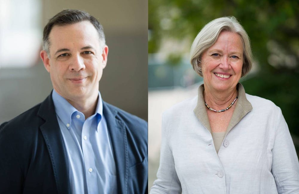 """<p>Professors Dalton Conley (left) and Shirley Tilghman (right), who were named AAAS fellows</p> <h6>Photo Credit: Chris Cruz / <a href=""""https://www.princeton.edu/news/2019/11/26/conley-and-tilghman-named-aaas-fellows"""" target=""""_self"""">Office of Communications</a>; Sammer A. Khan / Fotobuddy <a href=""""https://sheroars.princeton.edu/speaker/shirley-m-tilghman/"""" target=""""_self"""">via Office of Communications</a></h6>"""