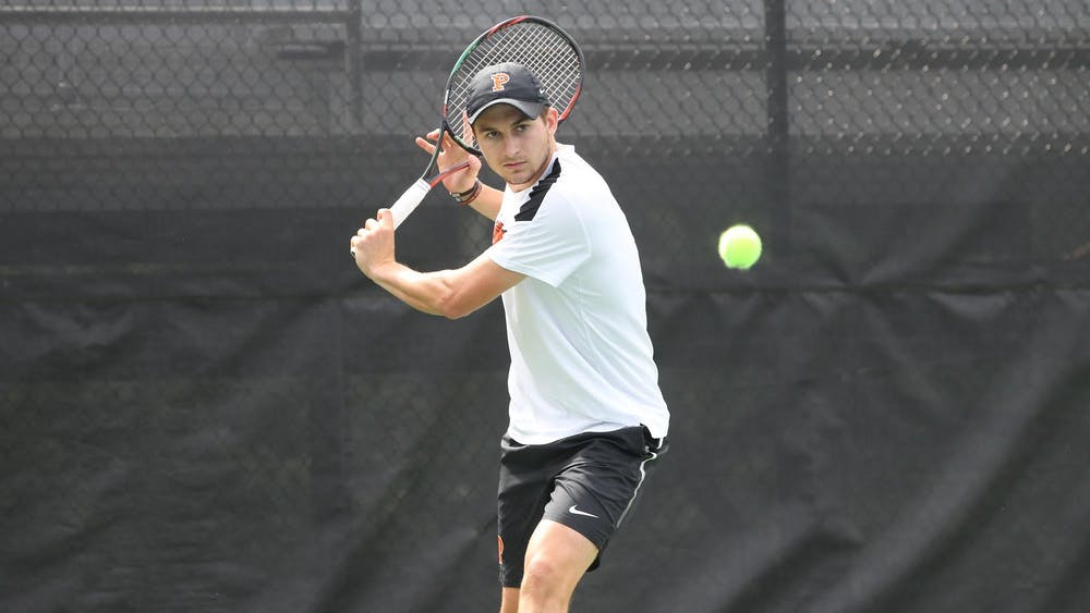 Senior captain Payton Holden, pictured, and junior Ryan Seggerman are ranked No. 8 in the country as a doubles pair. Photo courtesy of Princeton Athletics