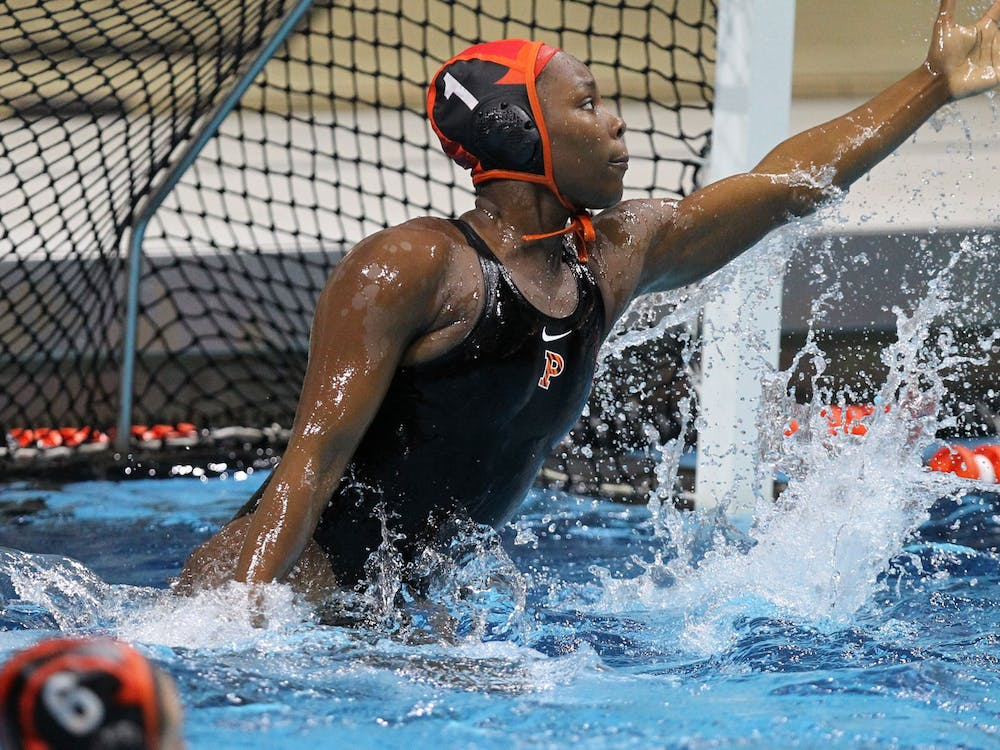 Ashleigh Johnson '17 playing water polo during her time at Princeton Beverly Schaefer / GoPrincetonTigers.com