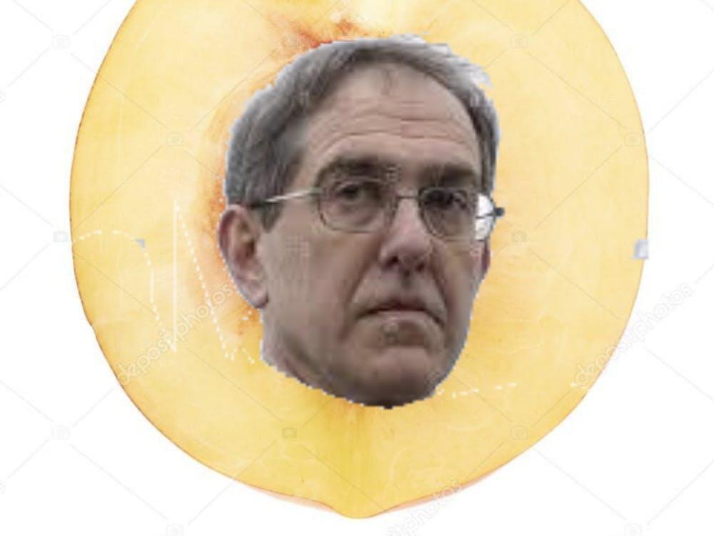 """Eisgruber: """"Im peach"""" Source: Impeachment Farm"""