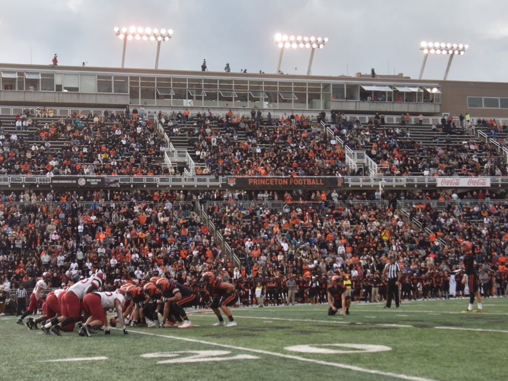 The Homecoming game saw attendance of over 10,000, including over 800 Princeton students. Mark Dodici / The Daily Princetonian