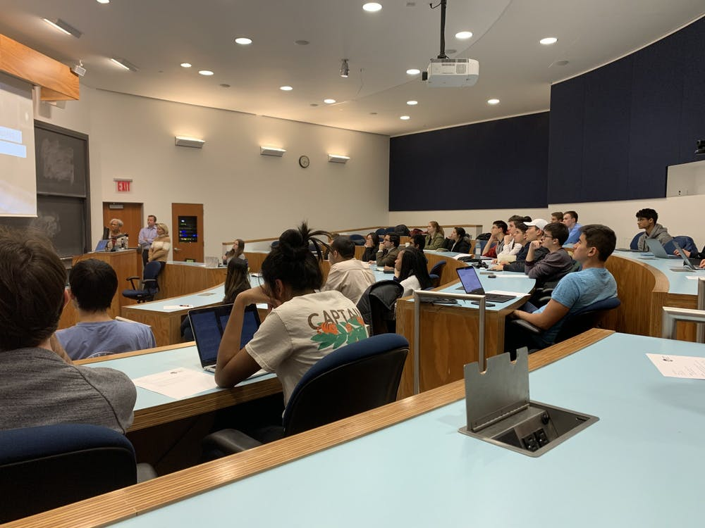 <p>The USG Senate hears a proposal on Campus Mobility.</p> <h6>Photo Credit: Caitlin Limestahl / The Daily Princetonian</h6>