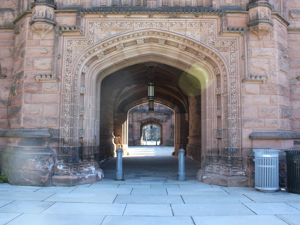 East Pyne Hall on a sunny Saturday morning.  Samantha Lopez-Rico / The Daily Princetonian