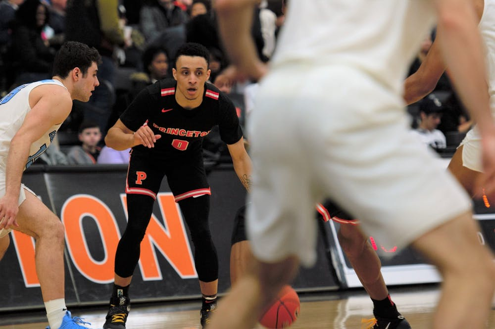 <p>The ball is Jaelin Llewellyn's, according to head coach Mitch Henderson.</p> <h6>Photo Credit: Jack Graham / The Daily Princetonian</h6>