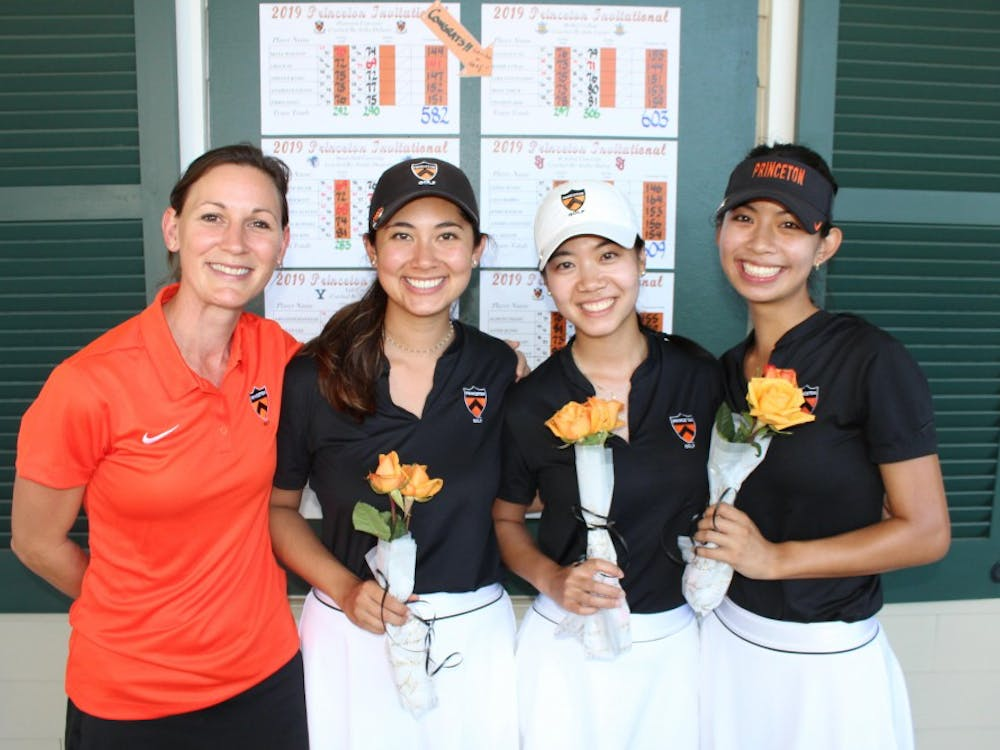 Head Coach Erika DeSanty, Senior Maya Walton, Senior Annie Kong, and Senior Alison Chang. Photo by Maya Walton