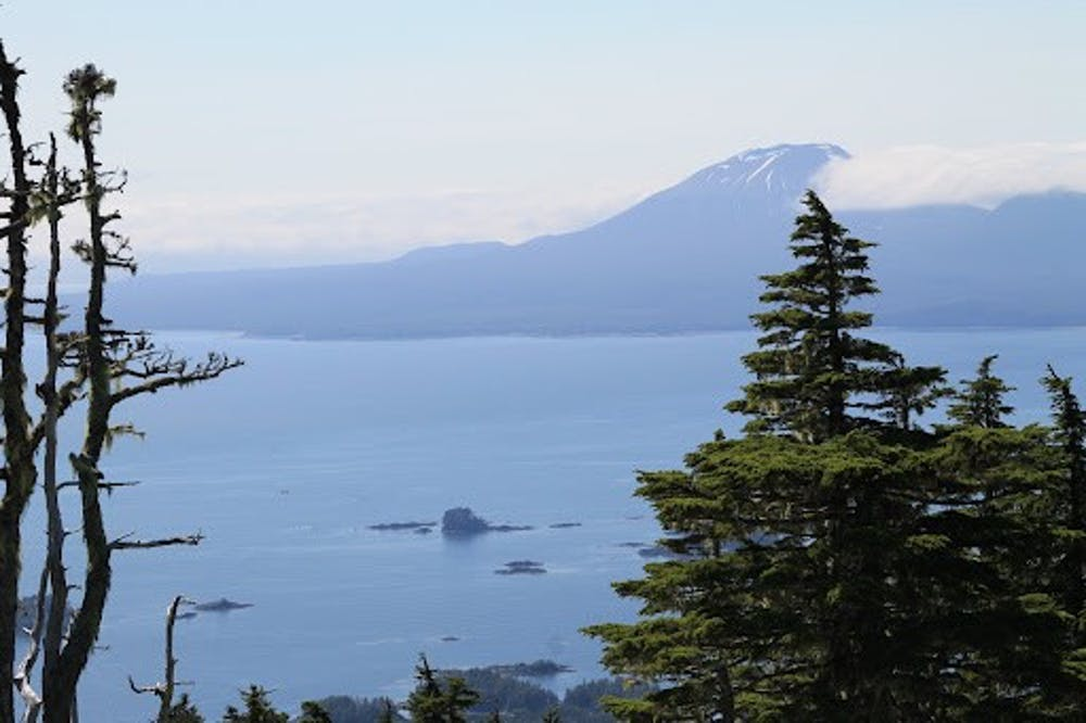 <h5>View of Mt. Edgecumbe in Southeast Alaska from Harbor Mountain on Baranoff Island</h5> <h6>The Daily Princetonian / Hannah Reynolds</h6>