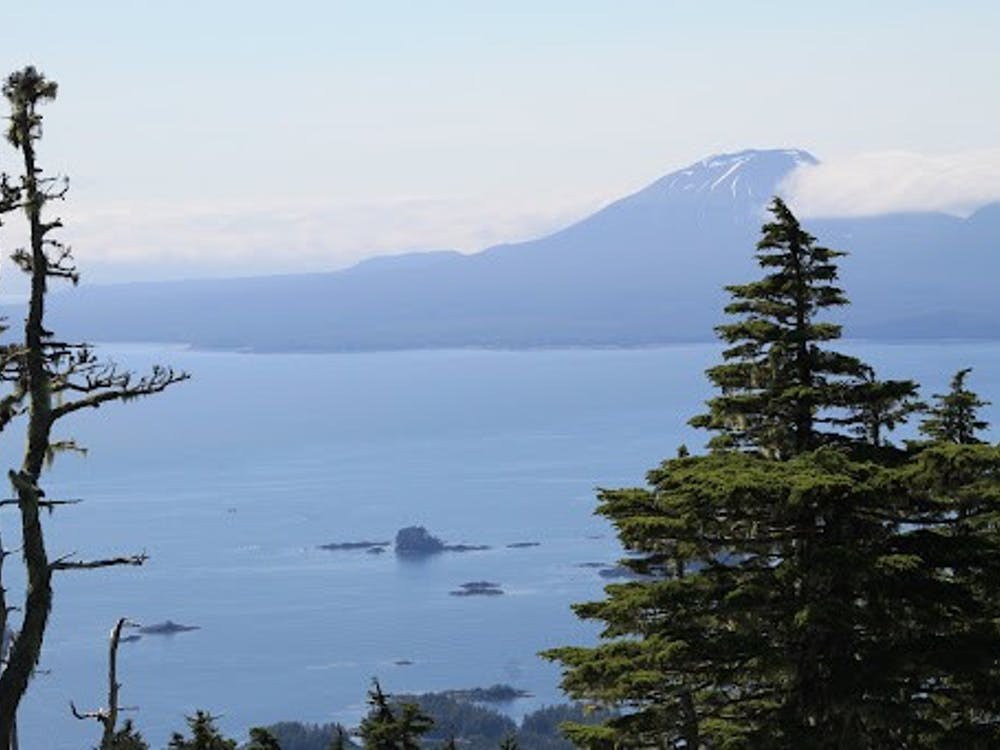 View of Mt. Edgecumbe in Southeast Alaska from Harbor Mountain on Baranoff Island The Daily Princetonian / Hannah Reynolds