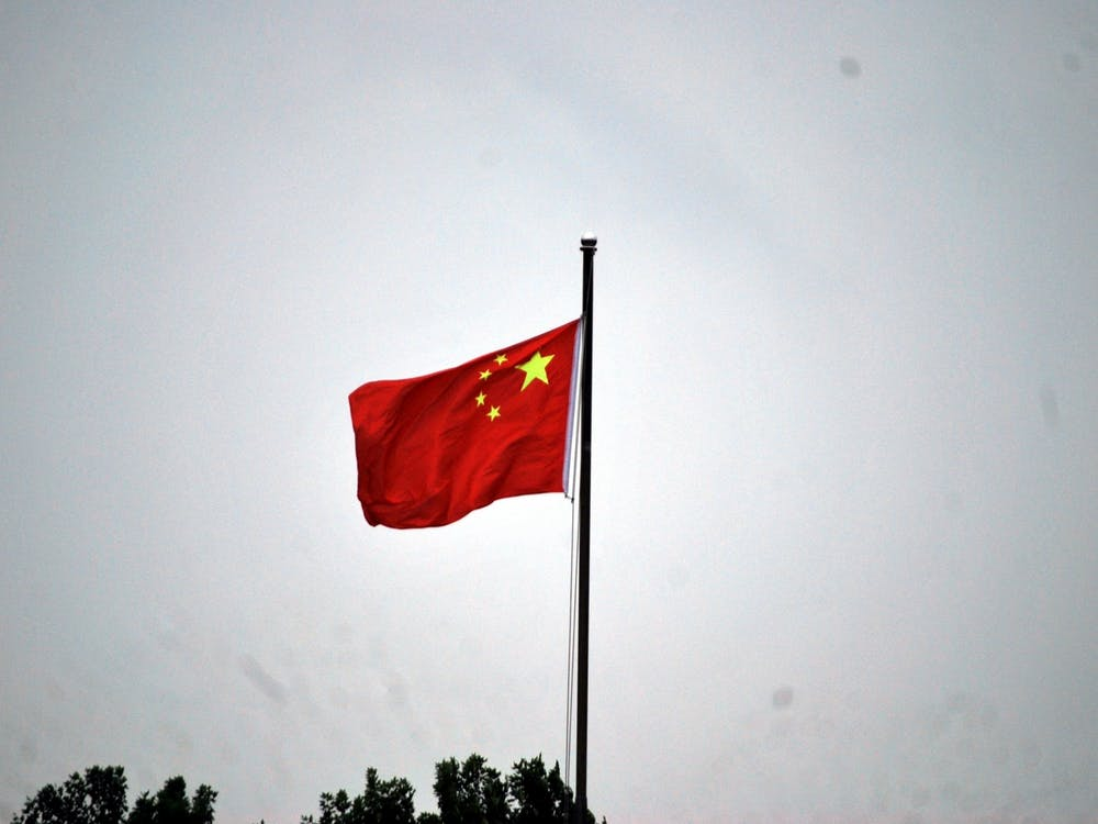 The flag of the People's Republic of China.  Kathy Smail / Pixy