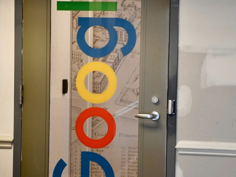 The entrance to Google's new AI research lab at 1 Palmer Square.