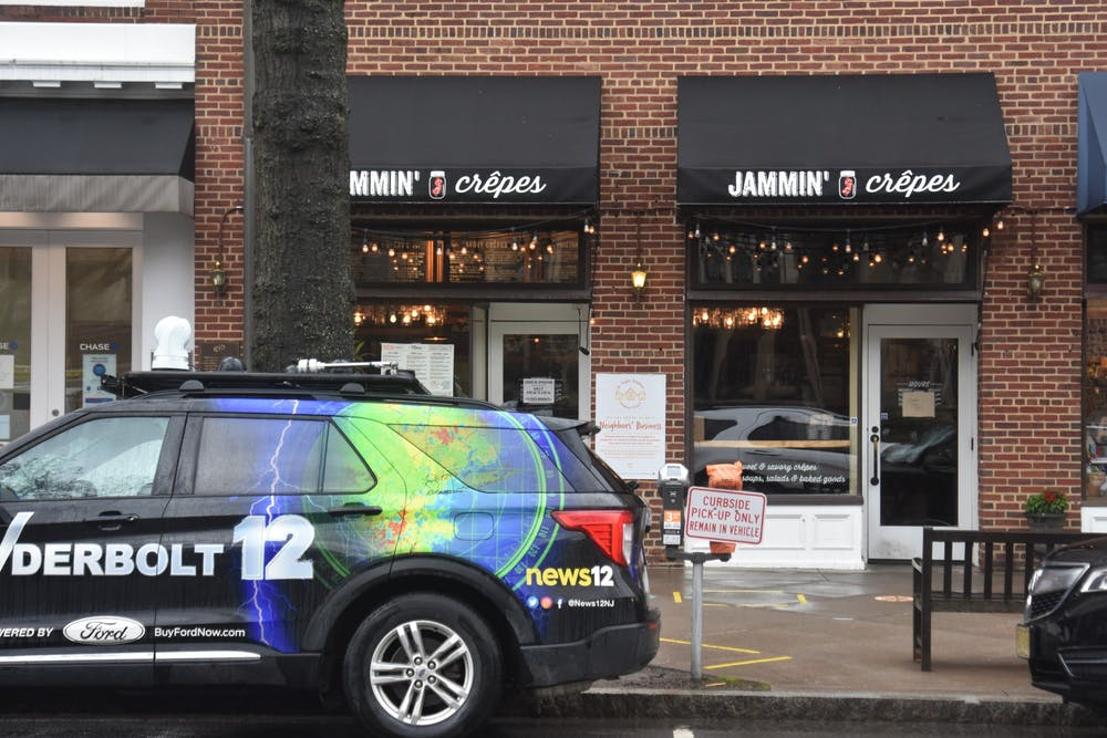 <h5>A news truck sits outside Jammin<strong>'</strong> Crepes shortly after Gov. Murphy signed a piece of legislation inside.&nbsp;</h5> <h6>Mark Dodici / The Daily Princetonian&nbsp;</h6>