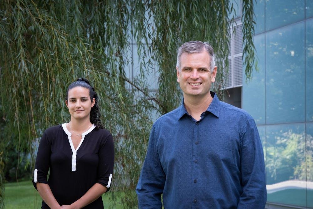 <h5>Megan Mohadjer Beromi&nbsp;and Paul Chirik.</h5> <h6>Courtesy of C. Todd Reichart</h6>
