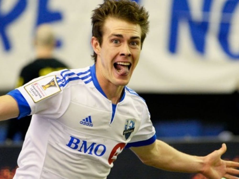 Cameron Porter playing for the Montreal Impact. Photo Credit: Eric Bolte / USA Today Sports