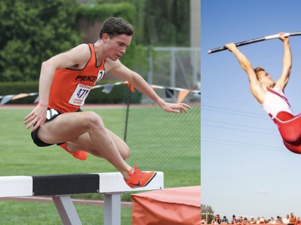 Ed Trippas '22 (left) and Sondre Guttormsen '23 (right) each competed in the Tokyo Olympics. Courtesy of Beverly Schafer (left) / GoPrincetonTigers.com and Kristin Guttormsen (right)