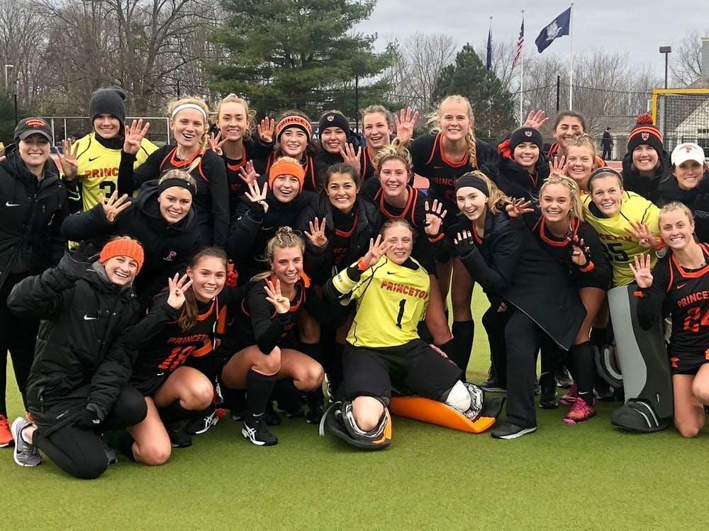 Princeton field hockey advanced to the NCAA Final Four after beating UConn. Photo Credit: Paul Neff / goprincetontigers.com