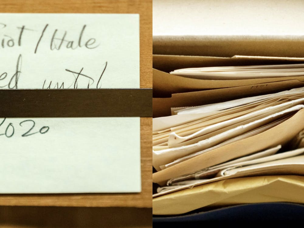 Eliot's letters were opened to researchers on Jan. 2.  Photos by Shelley Szwast, courtesy of Princeton University Library
