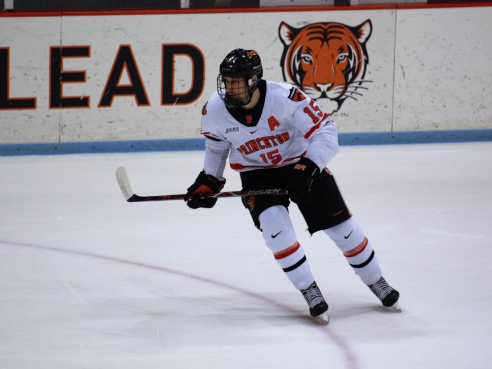Max Véronneau scored four goals this weekend to lead Princeton over Yale and Brown. Courtesy of Jack Graham / The Daily Princetonian
