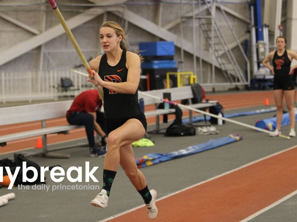 Hanne Bortslap competing in the pole vault  Beverly Schaefer / Princeton Athletics